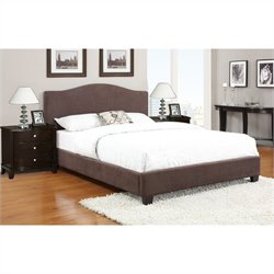 Poundex 3 Piece Queen Size Upholstered Bedroom Set in Chocolate