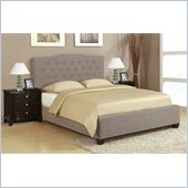 Poundex 3-Piece Faux Linen Bedroom Set in Dark Brown