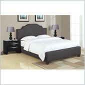 Poundex 3 Piece Queen Size Upholstered Bedroom Set in Ash Black