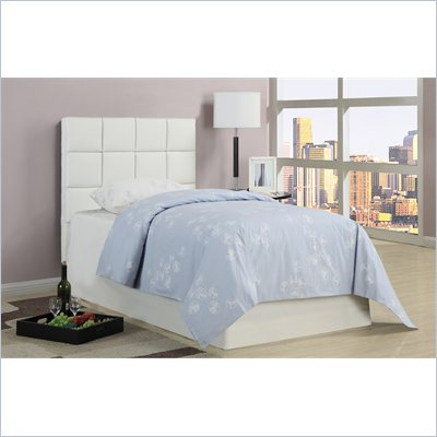 Poundex 45&quot; Cushion Headboard in White