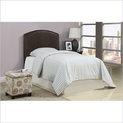 Poundex 45&quot; Arch Top Twin Headboard in Brown
