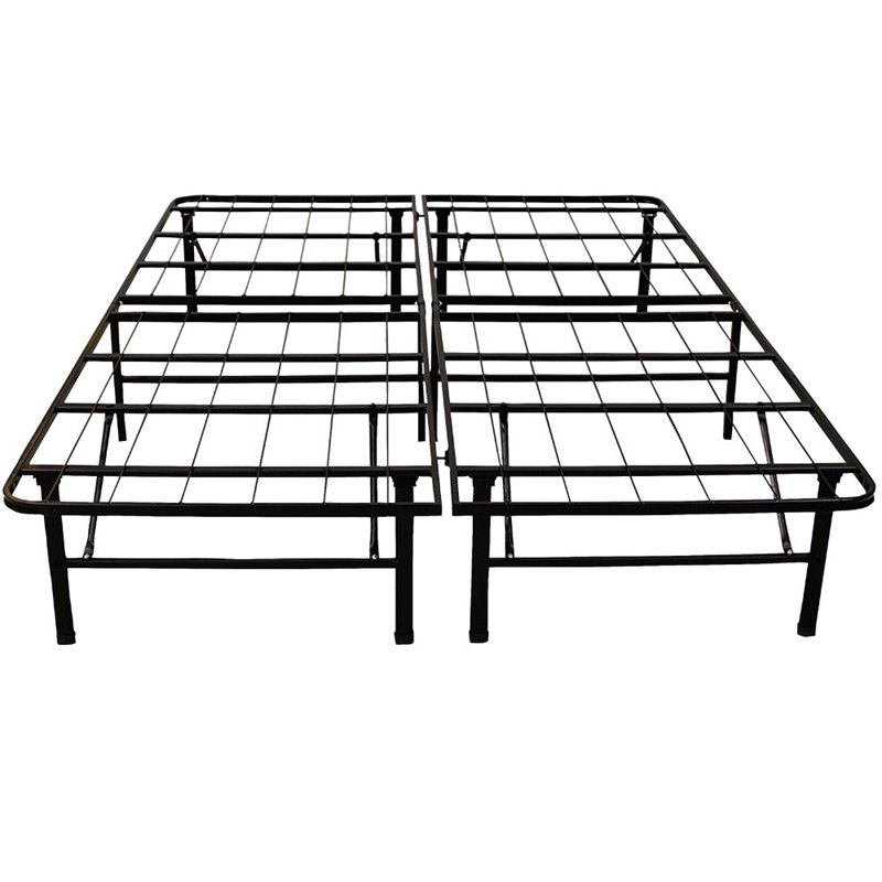 Classic Brands Hercules 14 Queen Heavy Duty Metal Bed Frame in Black