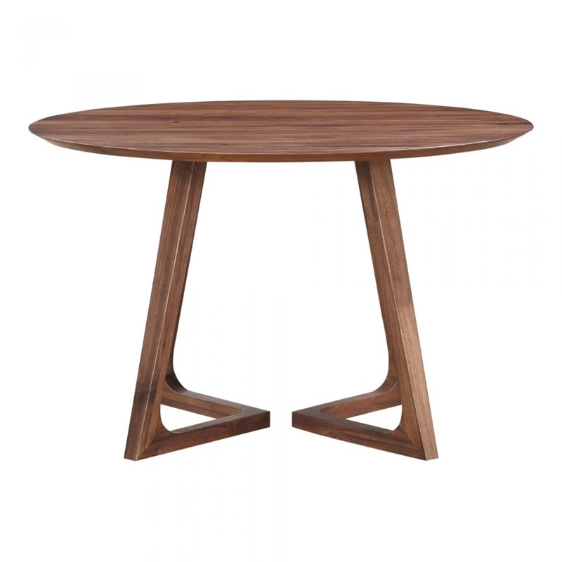Moe's Godenza Round Dining Table in Walnut