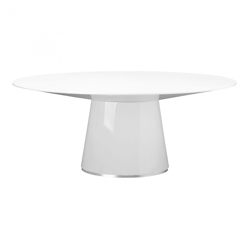 Moe's Otago Oval Dining Table in White