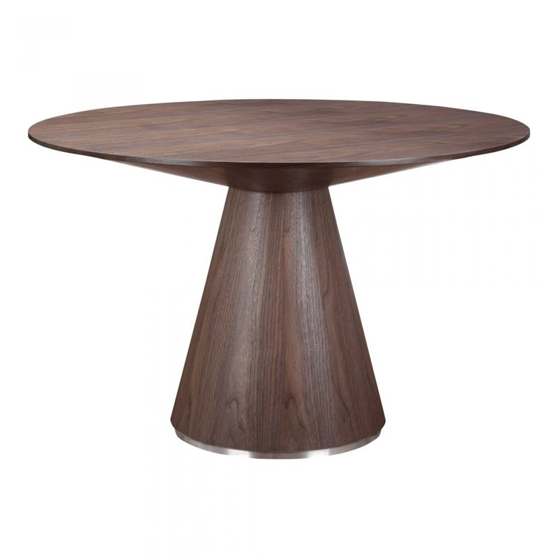 Moe's Otago Round Dining Table in Walnut