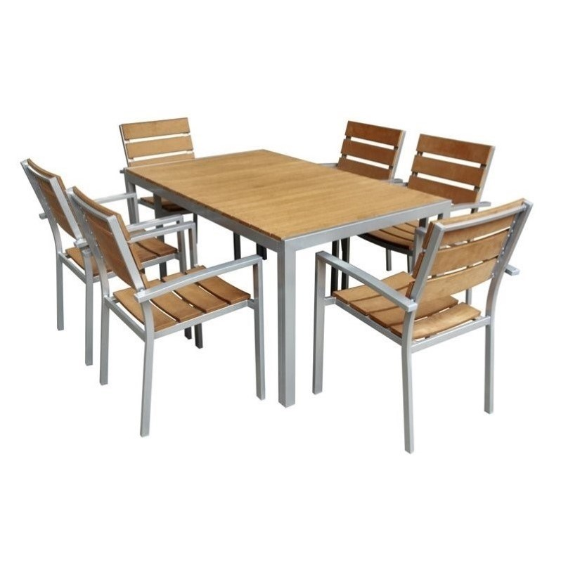 Jeco 7 Piece Patio Dining Set in Yellow