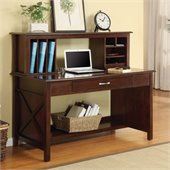 INSPIRED by Bassett Adeline Desk And Hutch In Mocha Finish