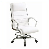 INSPIRED by Bassett Ellis Executive Chair In White With Chrome Finish