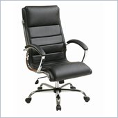 INSPIRED by Bassett Ellis Executive Chair In Black With Chrome Finish