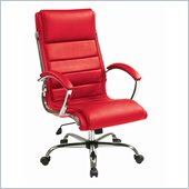 INSPIRED by Bassett Ellis Executive Chair In Red With Chrome Finish