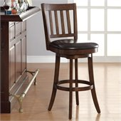 INSPIRED by Bassett Mission Bar Stool In Espresso Finish