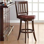 INSPIRED by Bassett Mission Bar Stool In Crimson Red Finish