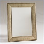 Henry Link Cameroon Mirror in Venetian Silver and Croc Finish