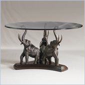 Henry Link Tusks and Trunks Dining Table Base in Aged Bronze Finish