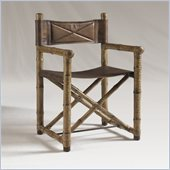 Henry Link Safari Chair in Linen Crackle Finish