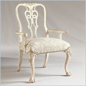 Henry Link Oxford Square Arm Chair in Weathered White Finish