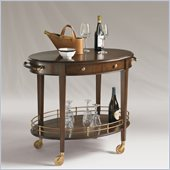Henry Link Achermann Serving Cart in French Walnut Finish
