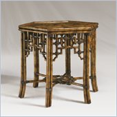 Henry Link East of Java Accent Table in Tortoise Shell Finish