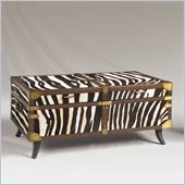 Henry Link Treasures of Kenya Trunk Cocktail Table in Zebra