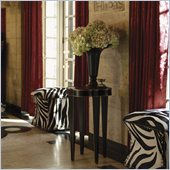 Henry Link Quatrefoil Chairside Accent Table in Gold Tipped Obsidian