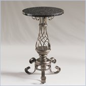 Henry Link Trieste Chairside Accent Table in Burnished Silver