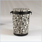 Henry Link Tanzania Accent Table in Ebony and Ivory Finish