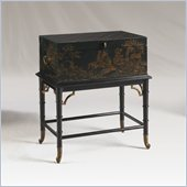 Henry Link Campaign Dispatch Box on Stand in Chinoiserie Finish