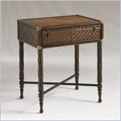Henry Link Martinique End Table Trunk on Stand in Old Havana