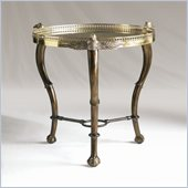 Henry Link Eagle's Eye Accent Table in Brass Reflections