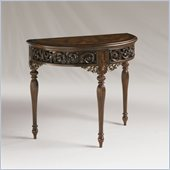 Henry Link Tangiers Demi-Lune Console in Bedford Finish