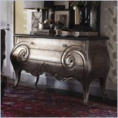 Henry Link Club Moustache Hall Chest in Burnished Silver Leaf