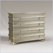 Henry Link Ivory Coast 4 Drawer Hall Chest in Burnished Silver Finish