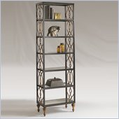 Henry Link Flemming 6 Shelf Bookcase in Midnight Gold
