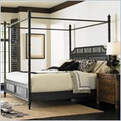 Henry Link West Indies Poster Bed in Weathered Black Finish