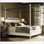 Henry Link West Indies Poster Bed in Weathered White Finish