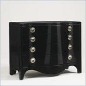 Aquarius Orion 4 Drawer Dressing Chest in Gloss Black Lacquer Finish