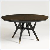 Aquarius Spectrum Round Dining Table in Walnut Finish