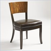 Aquarius Allure Side Chair in Walnut Finish