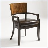 Aquarius Allure Arm Chair in Walnut Finish