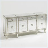 Aquarius Polaris Mirrored Buffet in Antique Mirror Gold Leaf