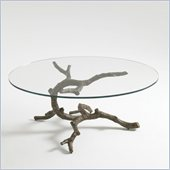 Aquarius Lone Cypress Cocktail Table in Antique Bronze Finish