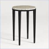 Aquarius Radiance Accent Table in Midnight Black