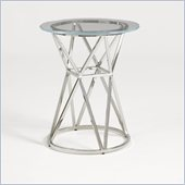 Aquarius Apex Accent Table in Stainless Steel