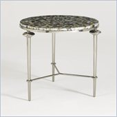 Aquarius Silver Shell Lamp Table in Antique Silver Finish