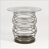 Aquarius Architype Lamp Table in  Stainless Steel