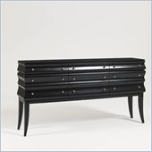 Aquarius Zodiac Console in Black Gloss Lacquer