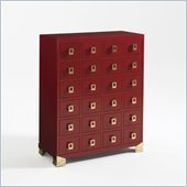 Aquarius Mandalay Chest in Madarin Red Gloss Lacquer