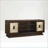 Aquarius Pulsar Media Console in Dark Walnut Finish