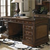Sligh Breckenridge Broadmoor Pedestal Desk in Briarwood