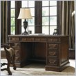 ADD TO YOUR SET: Sligh Breckenridge Highlands Pedestal Desk in Briarwood